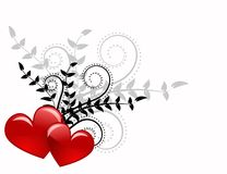 Red heart. Abstraction in valentine day, romance decoratively pattern Stock Photography
