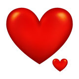 Red Heart. A tender red heart full of love Stock Photo