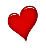 Red heart. Red  heart over white background Stock Image