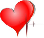 Red heart. Big red heart with palpitation Royalty Free Stock Image