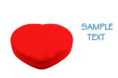Red heart. Heart shaped box isolated on white Stock Image