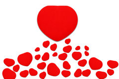 Red heart. Isolated on white Royalty Free Stock Photography