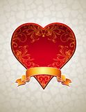 Red  heart,  Royalty Free Stock Photos