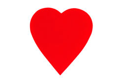 Red heart. Big red heart isolated on a white background Royalty Free Stock Image