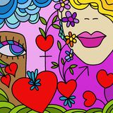 Red heart. Abstract illustration with red heart Royalty Free Stock Images