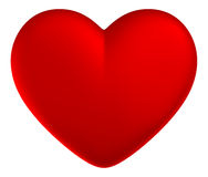 Red heart. Isolated white background Royalty Free Stock Photo