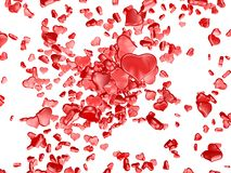 Red heart. One red heart on white background Royalty Free Stock Photo