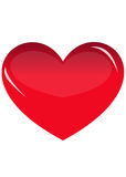 Red heart. On white background Stock Images