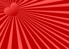 Red heart. Background illustration / valentine's day Stock Photo