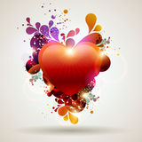 Red heart. Red heart with decorative elements Royalty Free Stock Images