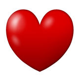 Red heart. With white background Royalty Free Stock Image