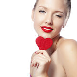 Red heart Stock Photo