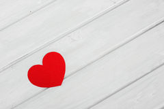 Red heart. On the Valentine Day royalty free stock photos
