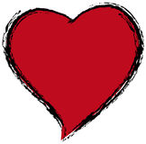 Red heart. Against a white background Stock Photo