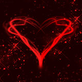 Red heart. Abstract background red heart valentine's day Royalty Free Stock Image