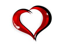 Red heart. Abstract glass red heart - vector illustration Stock Image