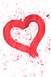 Red heart. On grunge background Stock Photography