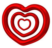 Red heart 3d Royalty Free Stock Image