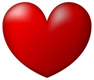 Red Heart. White Background Illustration Stock Image