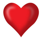 Red heart. In white background Stock Photo