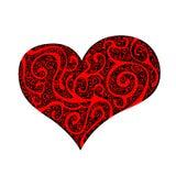 Red heart. On black, illustration Stock Illustration