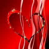 Red heart. With shine stars Royalty Free Stock Photo