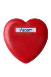 Red heart. Isolated over white Royalty Free Stock Photography