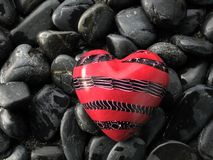Red heart. A red heart in stone Royalty Free Stock Photos