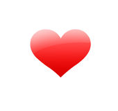 Red heart. A red heart on a white background vector illustration