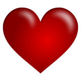 Red Heart. A big red heart isolated on white background. Useful also for St. Valentines or Saint Valentine s Day