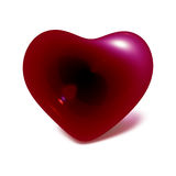 Red heart. This picture is about read heart on the white background royalty free illustration