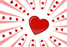 Red heart. An explosing red heart for decoration or a postcard Stock Photos