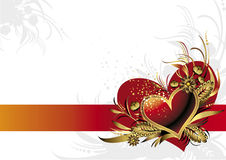 Red heart. Background with heart for Valentin's day Royalty Free Stock Photography