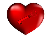 Red heart. Vector illustration of beautifull red heart Royalty Free Stock Image