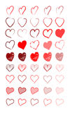 Red heart. Vector illustration of various red hearts Royalty Free Stock Images