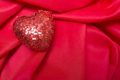 Red Heart. One heart on a red background Royalty Free Stock Image