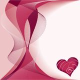 Red heart. Love decor background Stock Images