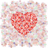 Red heart. On a background of colors Royalty Free Stock Images