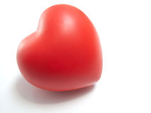Red Heart. Isolated on white Royalty Free Stock Photo
