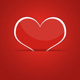 Red heart. Abstract background Royalty Free Stock Photo