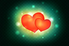 Red heart on abstract background Royalty Free Stock Images