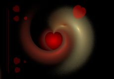 Red heart abstract background Stock Photos