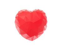 Red heart abstract image on white background Royalty Free Stock Photos
