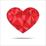 Red heart abstract isolated on a white backgrounds. Stock Images
