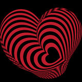 Red heart abstract Stock Photos