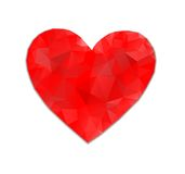 Red heart abstract Stock Image