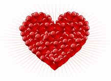 Red heart abstraction Stock Image