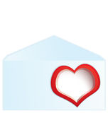 Red heart address space Stock Images