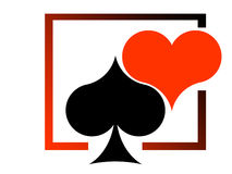Red Heart And Black Heart Stock Images