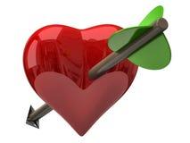 Red heart with arrow Stock Photos